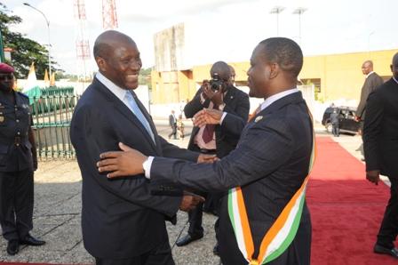 Le Premier Ministre, M. Duncun et Le Président de l'Assemblée Nationale, M. Soro