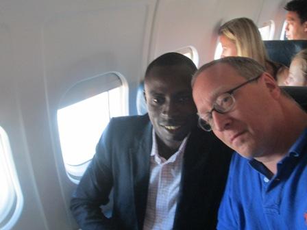 Mon Sympathique voisin Américain dans l'avion