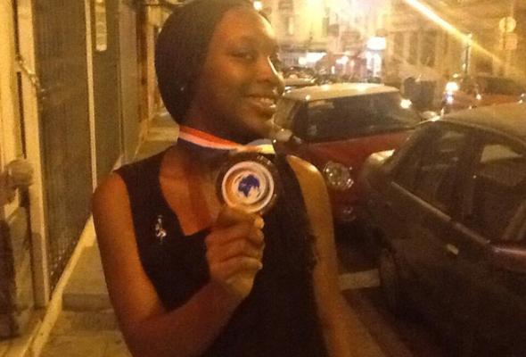 Yehni Djidji, Médaillée de Bronz aux Jeux de la Francophone 2013 Crédit Image: Guillaumesoro.com