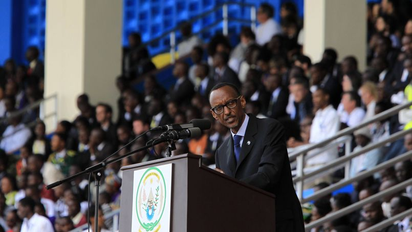 Kagame delivers his speech during the commemoration of the 20th anniversary of the genocide