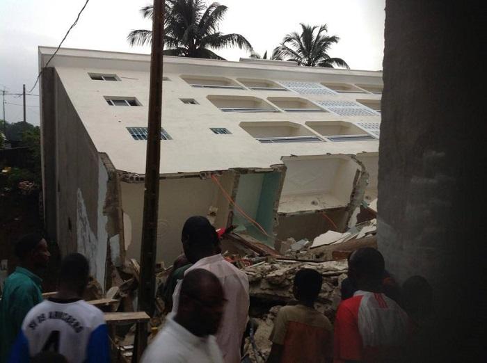 Un Immeuble écroulé à Angré, Abidjan